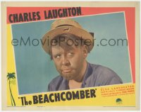 5k0905 BEACHCOMBER LC 1938 super close up of Charles Laughton in the tropics, W. Somerset Maugham!