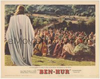 5k0910 BEN-HUR LC #4 1960 a crowd listens to Jesus deliver the Sermon on the Mount, Wyler classic!