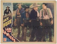 5k1202 LAW & LAWLESS LC 1932 cowboy Jack Hoxie with gun & companions catch the bad guy!