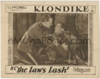 5k1203 LAW'S LASH LC 1928 Klondike the Dog protects his Mountie master in the frozen North!