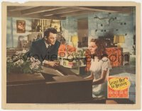 5k1204 LEAVE HER TO HEAVEN LC 1945 Cornel Wilde watches sister-in-law Jeanne Crain play piano!