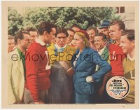 5k1208 LIFE BEGINS IN COLLEGE LC 1937 crowd gathers around Gloria Stuart angry at Tony Martin!