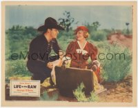 5k1209 LIFE IN THE RAW LC 1933 cowboy George O'Brien & pretty Claire Trevor in her first movie!