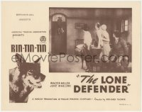 5k1216 LONE DEFENDER LC R1930s German Shepherd dog hero Rin Tin Tin in the inset AND border image!