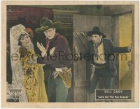 5k1218 LOVE ON THE RIO GRANDE LC 1925 man walks in on cowboy Bill Cody grabbing worried woman!