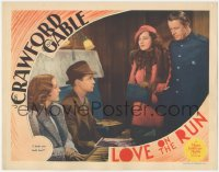 5k1219 LOVE ON THE RUN LC 1936 Reginald Owen & Mona Barrie tell Crawford & Tone they both lose!