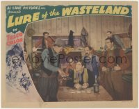 5k1223 LURE OF THE WASTELAND LC 1939 man shows gun to Grant Withers playing solitaire!