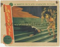 5k1225 MAD GENIUS LC 1931 concerned showgirls stare at John Barrymore, who fell on stairs, rare!