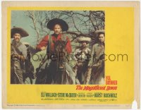 5k1226 MAGNIFICENT SEVEN LC #3 1960 scene where bewildered Eli Wallach as Calvera is told to Ride On!