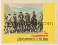5k1227 MAGNIFICENT SEVEN LC #6 1960 best posed image of the seven stars riding on horseback!