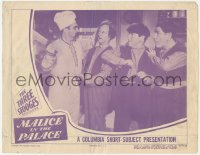 5k1230 MALICE IN THE PALACE LC 1949 3 Stooges Moe, Larry & Shemp threatened by cleaver, ultra rare!