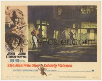 5k1237 MAN WHO SHOT LIBERTY VALANCE LC #4 1962 James Stewart & Lee Marvin in the climactic gunfight!