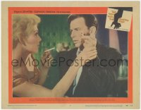 5k1238 MAN WITH THE GOLDEN ARM LC #2 1956 Kim Novak wants Frank Sinatra to light her cigarette!
