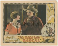 5k1361 RIDING RASCAL LC 1926 close up of cowboy hero Art Acord & pretty Olive Hasbrouck!