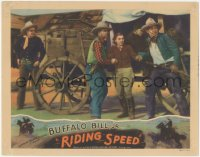 5k1362 RIDING SPEED LC 1934 cowboy Buffalo Bill Jr., Joile Benet & others by wagon!