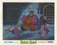 5k1368 ROBIN HOOD LC 1973 Walt Disney cartoon, sleeping Sheriff of Nottingham with Trigger & Nutsy!