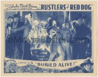 5k1381 RUSTLERS OF RED DOG chapter 5 LC 1935 Johnny Mack Brown captured by Indians, Buried Alive!