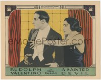5k1386 SAINTED DEVIL LC 1924 Rudolph Valentino & scared Nita Naldi, from Rex Beach story, rare!