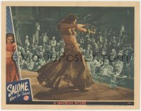 5k1388 SALOME WHERE SHE DANCED LC 1945 sexy Yvonne De Carlo performing her dance for cowboy audience
