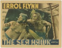 5k1399 SEA HAWK LC 1940 great close up of bearded galley slaves Errol Flynn & Alan Hale Sr.!