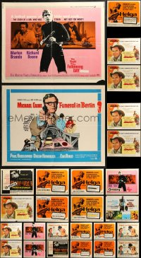 5m0099 LOT OF 29 UNFOLDED AND FORMERLY FOLDED HALF-SHEETS 1960s a variety of cool movie images!