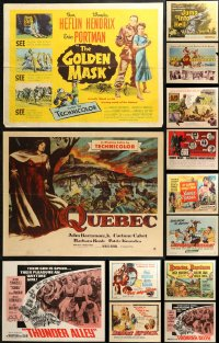 5m0113 LOT OF 15 FORMERLY FOLDED HALF-SHEETS 1950s-1960s great images from a variety of movies!