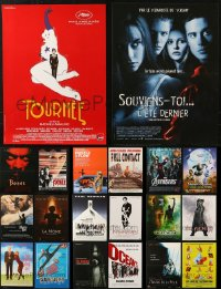 5m0084 LOT OF 24 FORMERLY FOLDED 15X21 FRENCH POSTERS 1980s-2010s a variety of movie images!