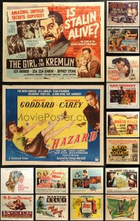 5m0108 LOT OF 18 FORMERLY FOLDED HALF-SHEETS 1940s-1970s great images from a variety of movies!