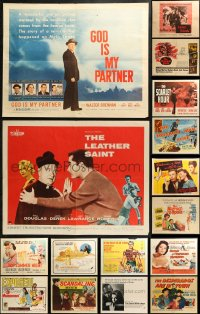 5m0107 LOT OF 19 FORMERLY FOLDED HALF-SHEETS 1940s-1970s great images from a variety of movies!