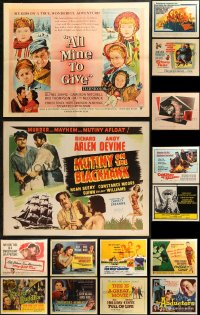 5m0105 LOT OF 21 FORMERLY FOLDED HALF-SHEETS 1940s-1970s great images from a variety of movies!