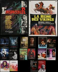 5m0089 LOT OF 20 FORMERLY FOLDED 16X21 FRENCH POSTERS 1980s-2010s a variety of cool movie images!