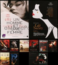 5m0096 LOT OF 13 FORMERLY FOLDED 15X21 FRENCH POSTERS 1970s-2010s a variety of cool movie images!
