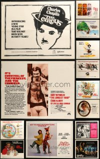5m0109 LOT OF 17 FORMERLY FOLDED HALF-SHEETS 1960s-1980s great images from a variety of movies!