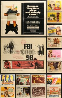5m0106 LOT OF 20 FORMERLY FOLDED HALF-SHEETS 1940s-1970s great images from a variety of movies!