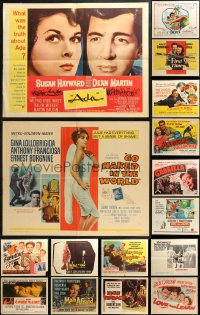 5m0101 LOT OF 24 FORMERLY FOLDED HALF-SHEETS 1940s-1970s great images from a variety of movies!