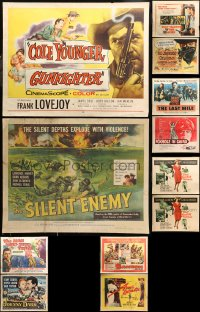 5m0115 LOT OF 14 MOSTLY UNFOLDED HALF-SHEETS 1970s-2000s great images from a variety of movies!