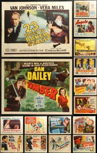 5m0103 LOT OF 22 FORMERLY FOLDED HALF-SHEETS 1940s-1970s great images from a variety of movies!