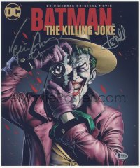 5y0142 BATMAN: THE KILLING JOKE signed color 11x13 REPRO 2016 by BOTH Kevin Conroy AND Mark Hamill!