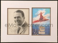 5y0035 DOUGLAS FAIRBANKS SR signed 8x10 still in 14x19 display 1920 great portrait ready to frame!