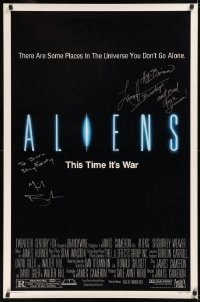 5y0003 ALIENS signed 1sh 1986 by BOTH Michael Biehn AND Lance Henriksen, James Cameron sequel!