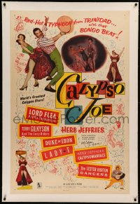 5y0002 CALYPSO JOE signed linen 1sh 1957 by Herb Jeffries, who performed with his Calypsomaniacs!
