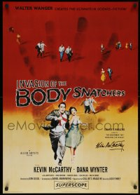 5y0024 KEVIN MCCARTHY signed 24x36 English commercial poster 1996 Invasion of the Body Snatchers!
