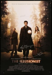 5y0007 ILLUSIONIST signed 1sh 2008 by Jessica Biel, director Neil Burger, AND producer Michael London!