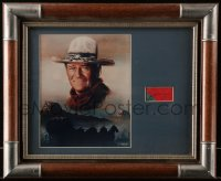 5y0031 JOHN WAYNE signed cut magazine page in 15x18 framed display 1960s ready to hang on your wall!