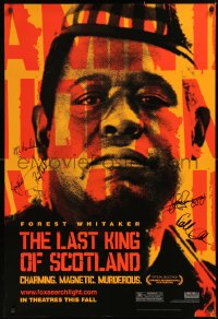 5y0008 LAST KING OF SCOTLAND signed teaser DS 1sh 2006 by Forest Whitaker, McAvoy, Anderson & 3 more!