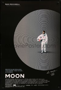 5y0010 MOON signed 1sh 2009 by director Duncan Jones, great image of lonely astronaut Sam Rockwell!