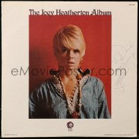 5y0037 JOEY HEATHERTON signed 33 1/3 RPM record 1972 on the cover of her self titled MGM album!