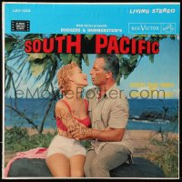 5y0038 MITZI GAYNOR signed 33 1/3 RPM record 1958 on the cover of the South Pacific soundtrack album!