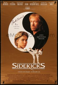 5y0011 SIDEKICKS signed 1sh 1992 by Chuck Norris, a dreamer and the champion, an unbeatable team!