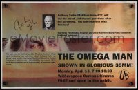 5y0021 ANTHONY ZERBE signed 11x17 special poster 2009 from a special screening of The Omega Man!